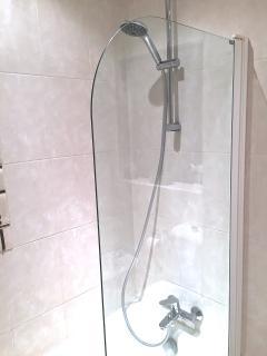 Full size bath and Grohe Shower Mixer in the Main Bathroom
