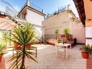 Penthouse studio Navona Sq, Love-Nest with terraces, unique location, Wi-Fi, A/C