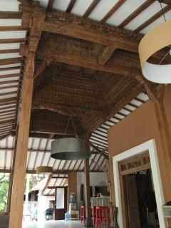 THE CARVED ROOF IN THE MAIN JOGLO HOUSE