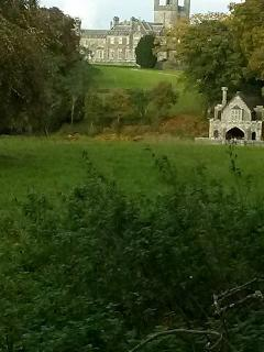 Crom Castle and boat house nearby - great walks here