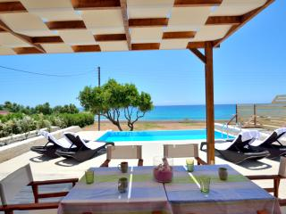 Mary beach villa tria luxury beachfront villa, Frangokastello