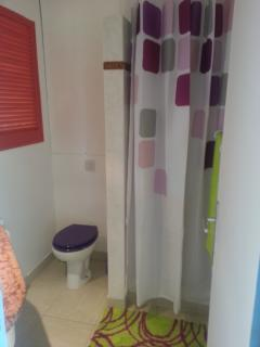 la salle de douche + wc