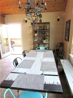 Kitchen nook with large antique table