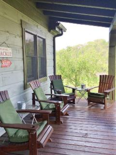 Seating on the Covered Porch