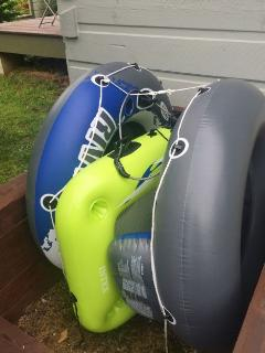 2 River Tubes & Cooler Float
