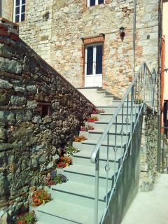 La scal di accesso alla terrazza