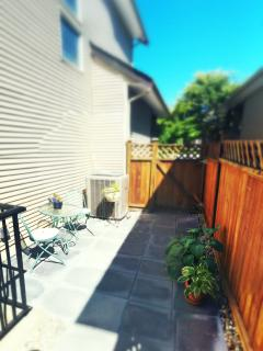 Sunny south exposed patio