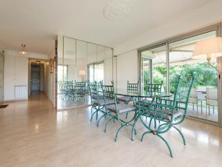 Indoor dining area in salon