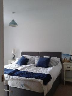 large first floor bedroom, rear of the house, with super-king bed, also available with 2 single beds