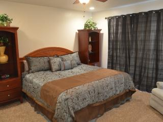 Bedroom #1 is very spacious and has a comfortable king size bed