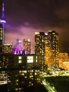 CN Tower Night View form Living Room