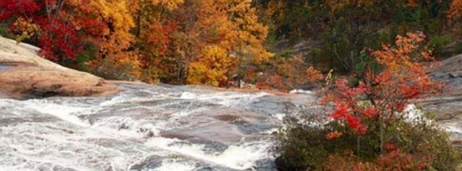 Imagine hiking down the falls.