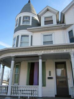 3-story Victorian home in quaint Millersburg, Pa. Suite is on first floor, thru front porch door.