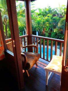 Poolside room balcony