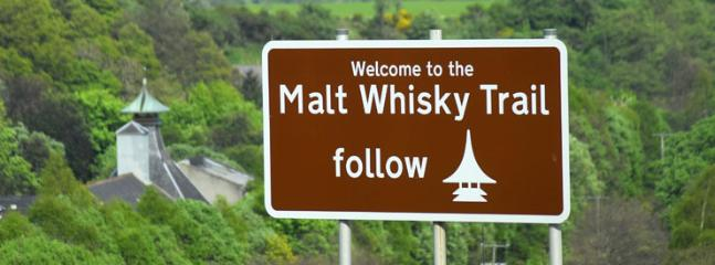 Whisky's galore!  Aberlour is in the heart of the Malt Whisky Trail.