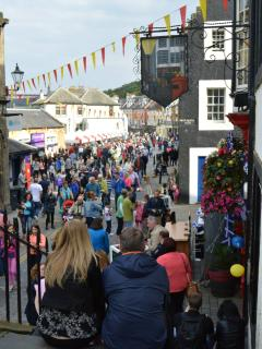 The town in festive mood