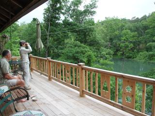 Large deck facing the lake- great for viewing lake life!