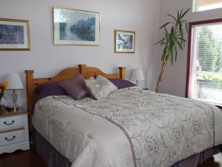 Your king sized bed in Lavender Room, Sechelt
