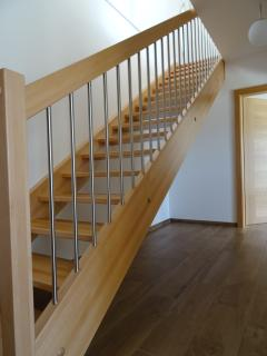 .... and open staircase leading to the lower level bedrooms