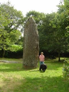 Standing stone in the next village