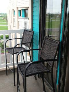 Balcony tall chairs Condos 1328