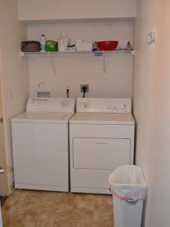 Spacious first floor laundry room conveniently located off of the kitchen.
