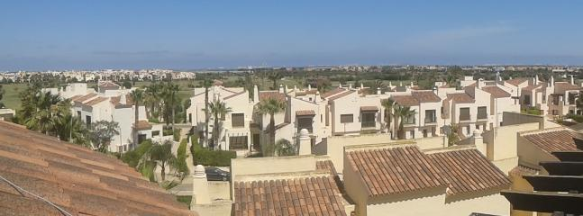 Daytime from the solarium across to the Mar Menor and Golf Course.