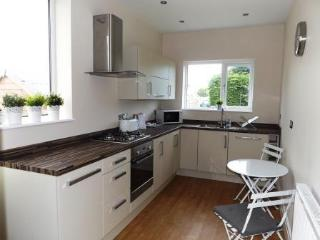 Well equipped kitchen recently fitted with integrated oven/hob, fridge freezer and dishwasher.