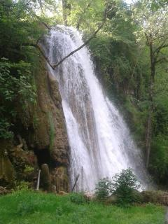 'Cascade Pétrifiante' at the botton of the waterfall