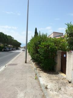 rue où se situe la maison