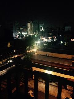 Vista nocturna desde el balcon