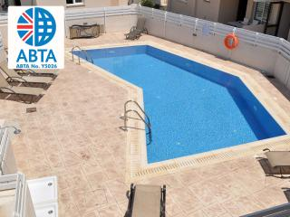 Oceanview Apartment 175 - sleeps 5 Communal Pool, Protaras