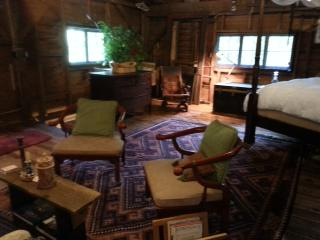 Rustic Rivers end room in the barn at chestnut lodge