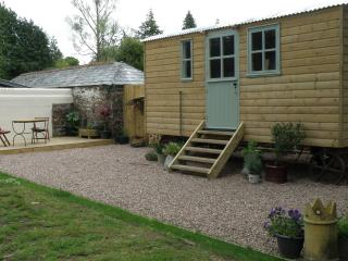 witherdon wood shepherds hut,okehampton, dartmoor national park, cornwall, devon