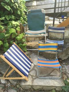 Smaller beach or pool chairs.
