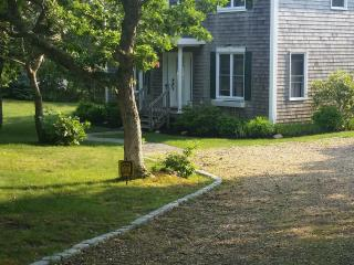 Beautiful outside of this Edgartown home in a quiet cul-de-sac.