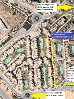Fabulous Phase 1 location: only 5-10 min walk to PGA Golf Course, Club House, gym, shop and entrance
