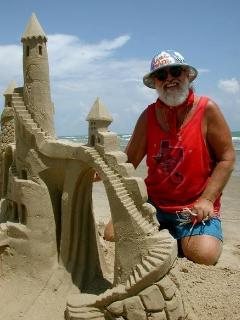 Take a sand sculpture lesson!