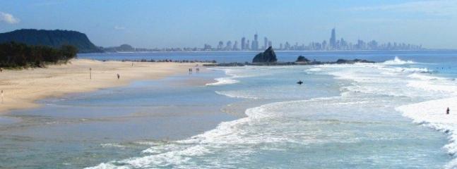 Currumbin Beach 10 mins drive away