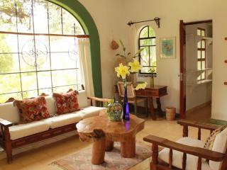Villa El Nido: View of living room, desk and walk-in closet