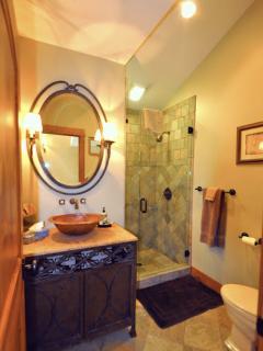 Upstairs exquisite bathroom adjacent to den/bedroom