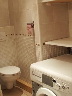 Salle de bain/WC avec lave-linge/sèche-linge combiné