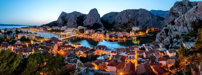 Omiš Town in the sunset