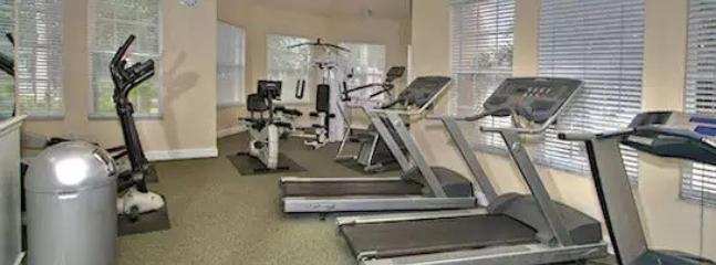 A gym is located in the Windsor Palms Resort community center.