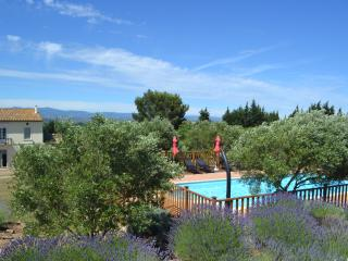 Large Heated pool with far reaching views