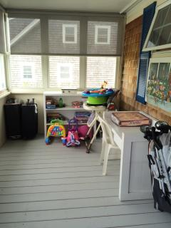 Don't pack the kitchen sink; we have pack and play yards, high chair, potty chair and stroller.