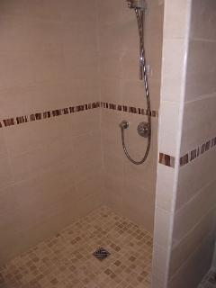 Wet room shower