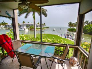 The unobstructed WATER VIEW from our lanai overlooks beautiful Pine Island Sound and resort harbor!