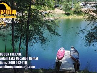 LuxeLakefront WIFI PrivateDock GameRm 25m>Yosemite, Groveland