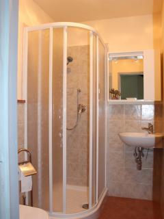 bright, clean bathrooms